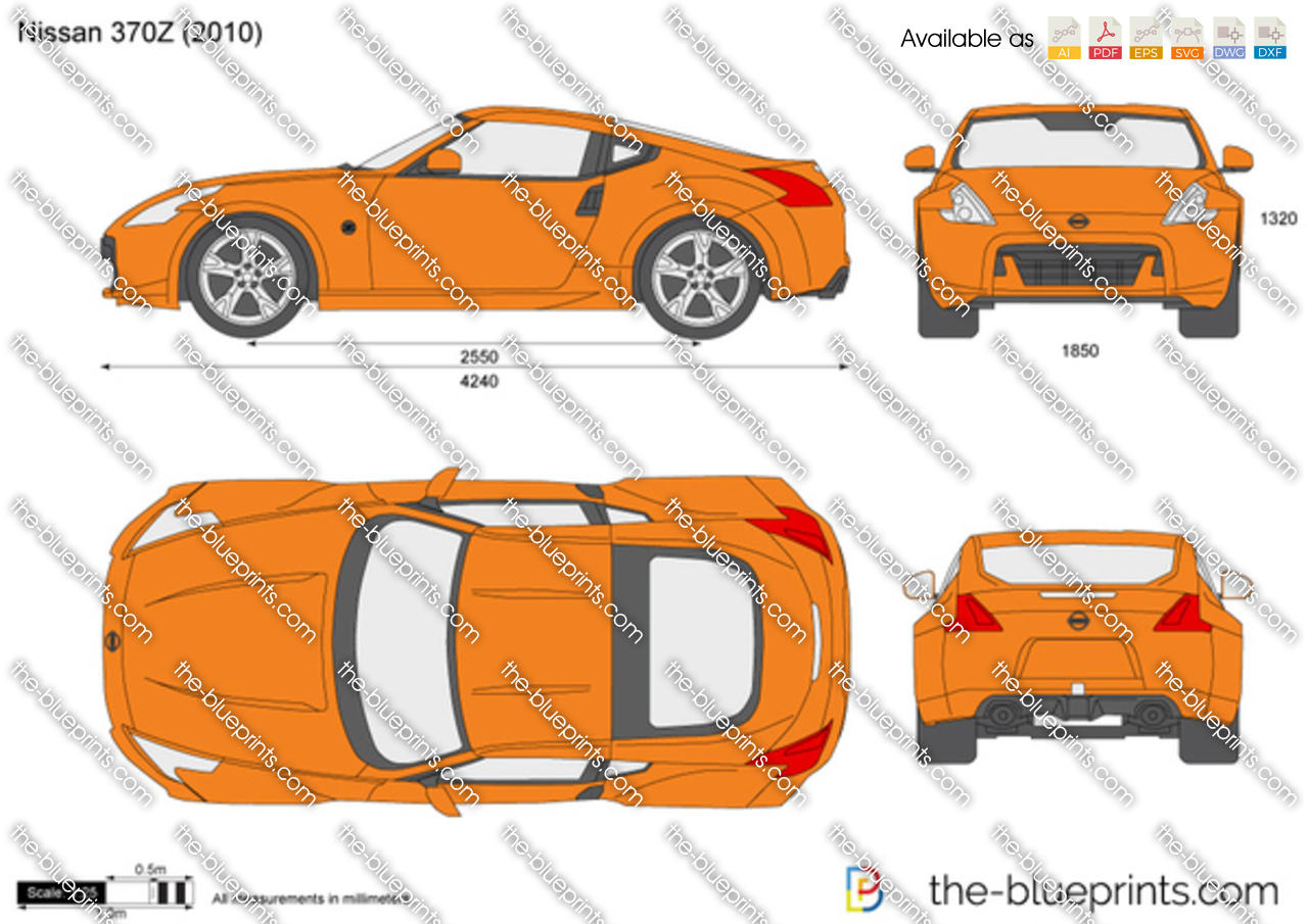 Nissan 370z Vector Drawing