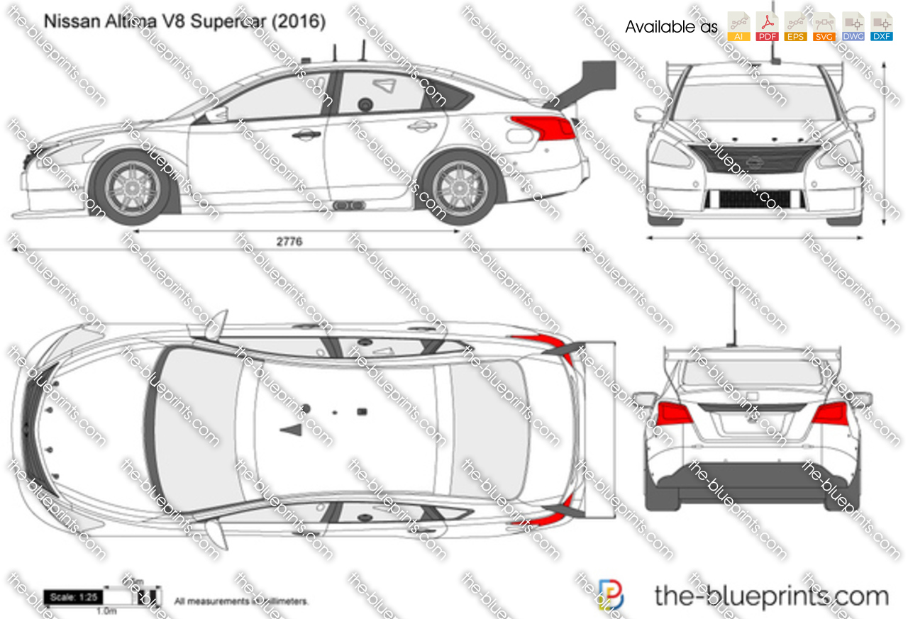 The Blueprints Com Vector Drawing Nissan Altima Supercar