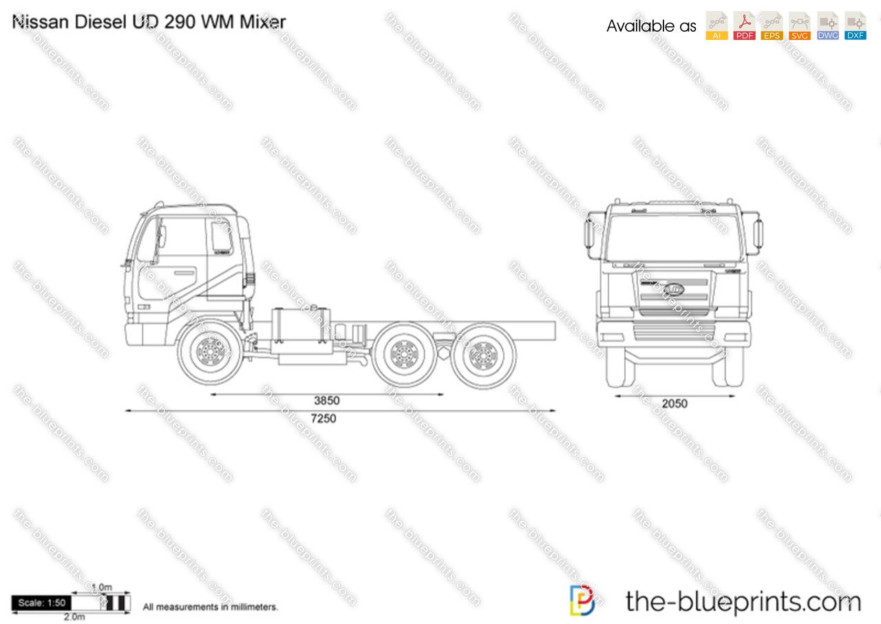 Nissan Diesel UD 290 WM Mixer