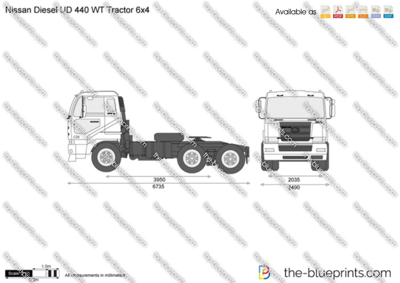 Nissan Diesel UD 440 WT Tractor 6x4