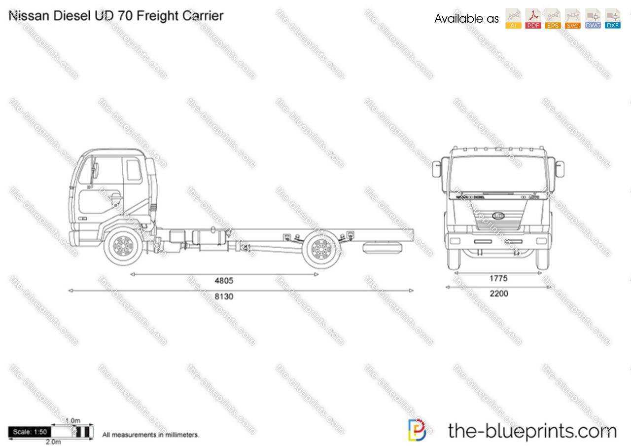 Nissan Diesel UD 70 Freight Carrier