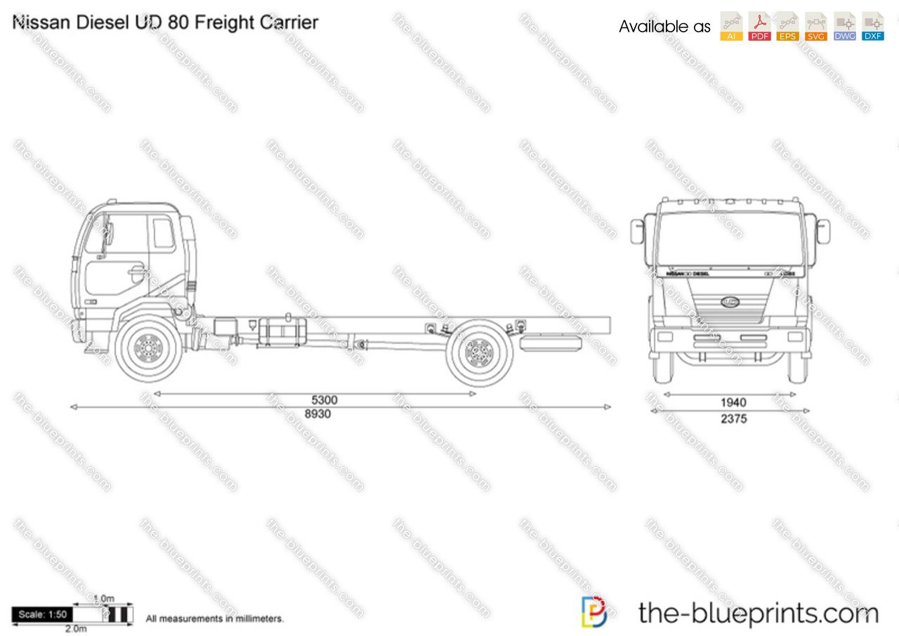 Nissan Diesel UD 80 Freight Carrier