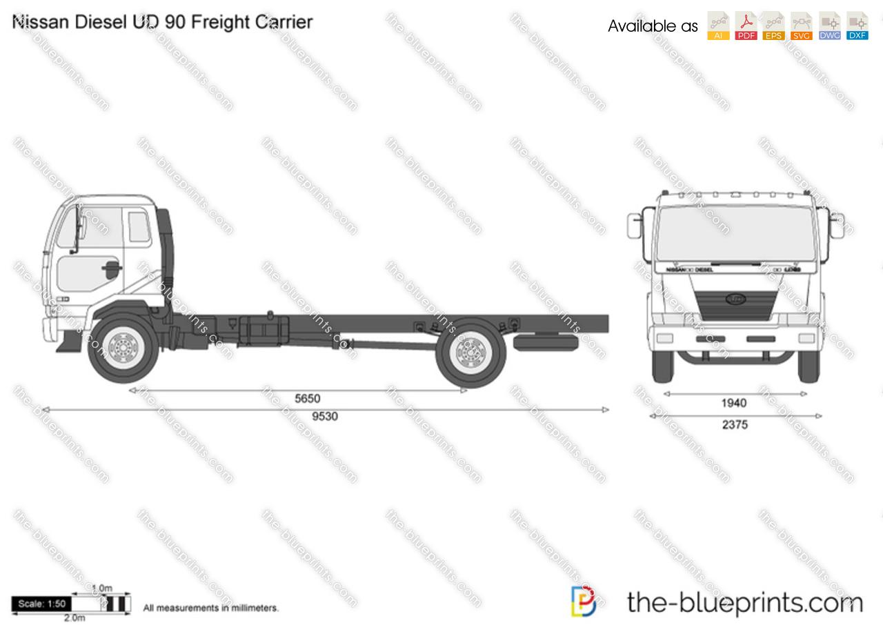 Nissan Diesel UD 90 Freight Carrier