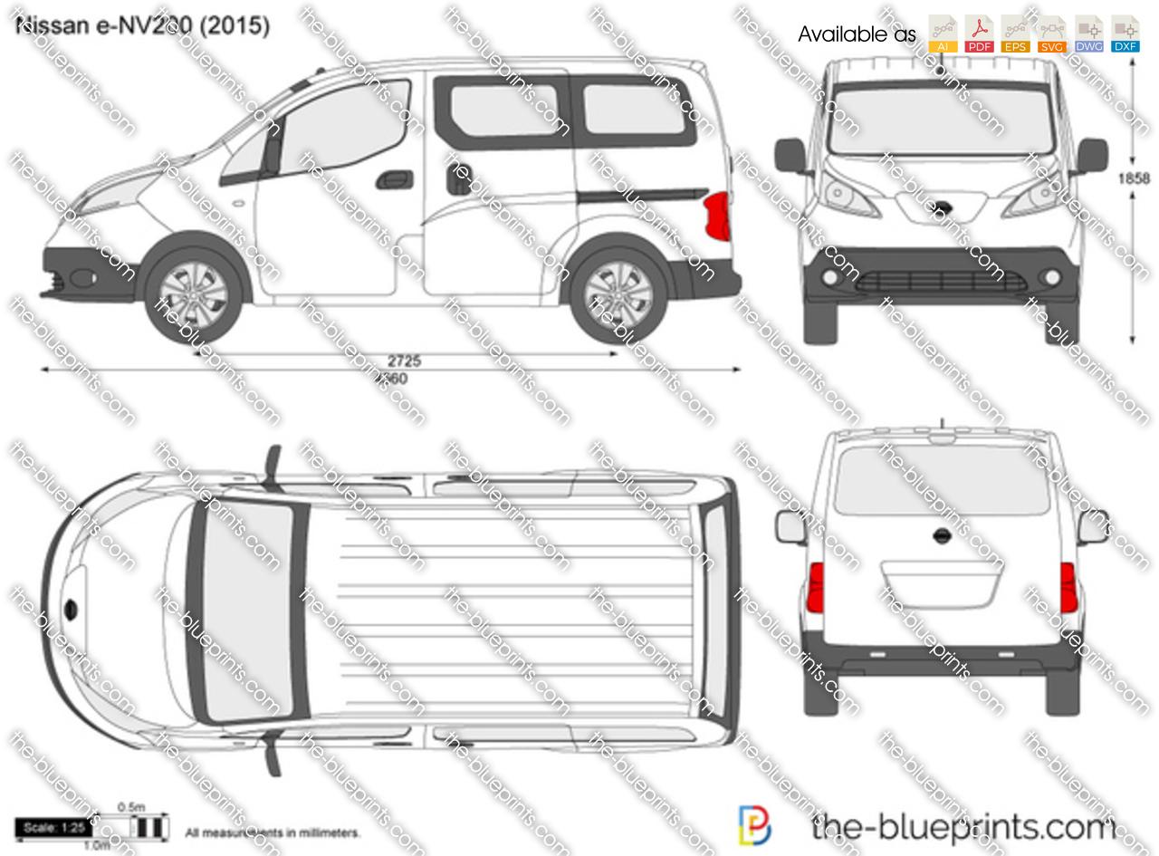 nissan e nv200 vector drawing. Black Bedroom Furniture Sets. Home Design Ideas
