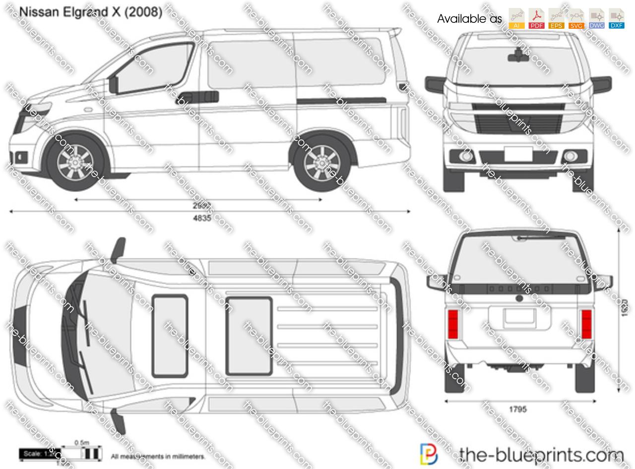 The Blueprints Com Vector Drawing Nissan Elgrand X