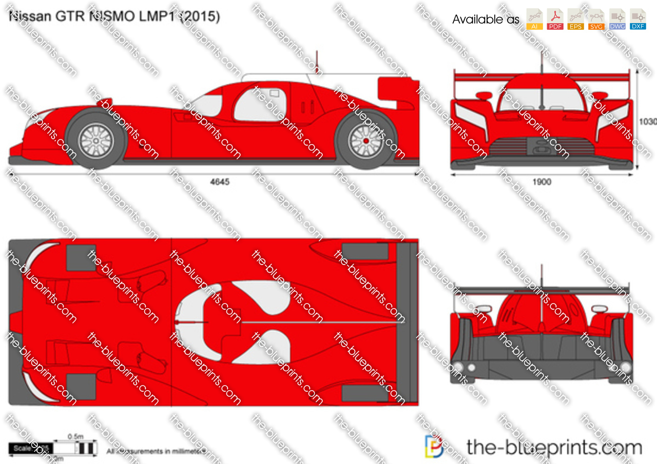 The Blueprints Com Vector Drawing Nissan Gtr Nismo Lmp1