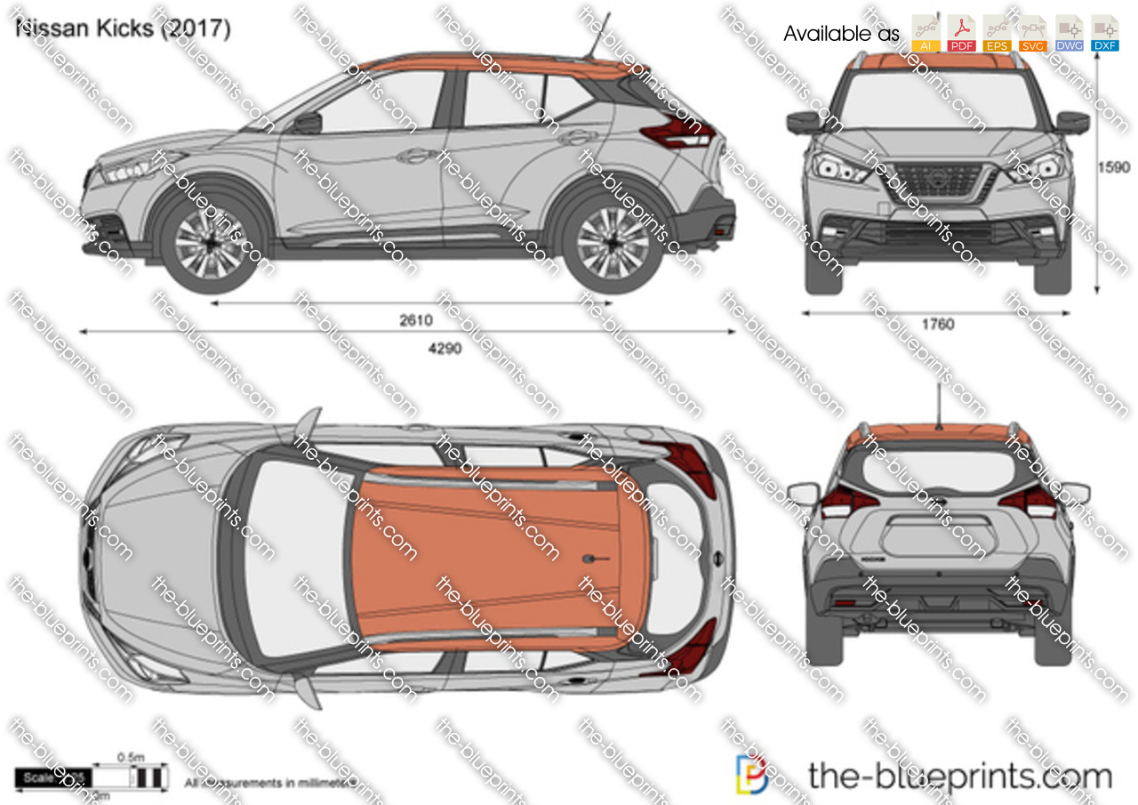 Nissan Kicks Vector Drawing