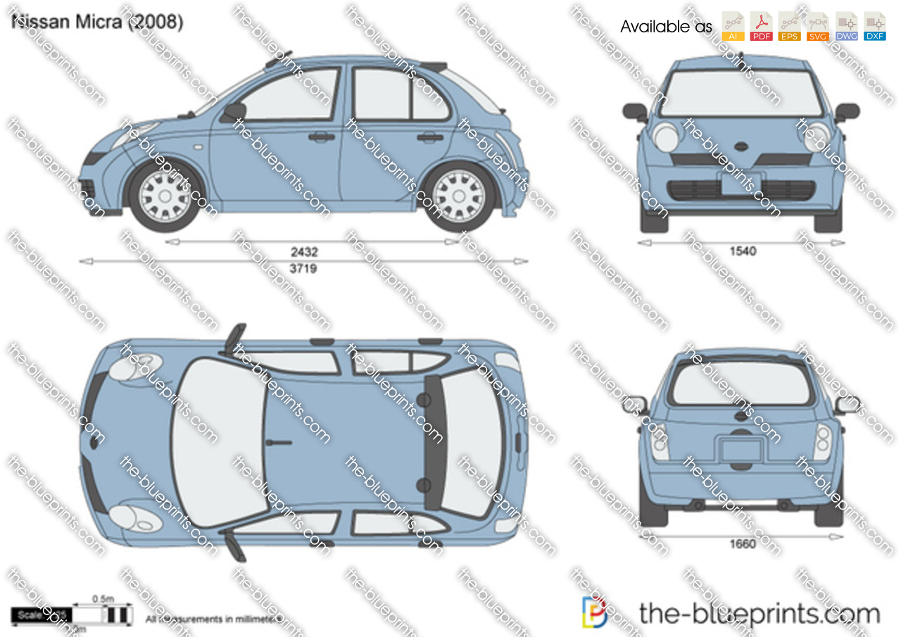 the vector drawing nissan micra. Black Bedroom Furniture Sets. Home Design Ideas