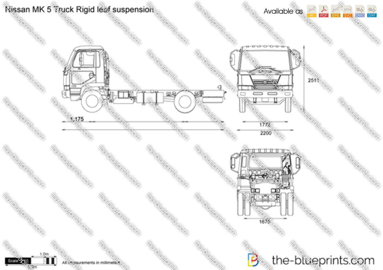 Nissan MK 5 Truck Rigid leaf suspension