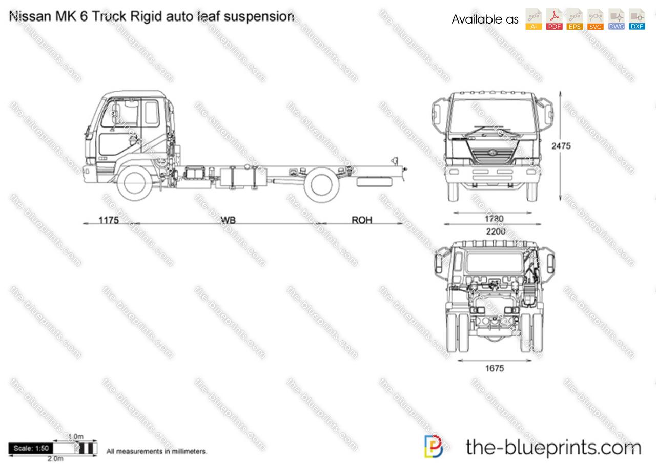 Nissan MK 6 Truck Rigid auto leaf suspension