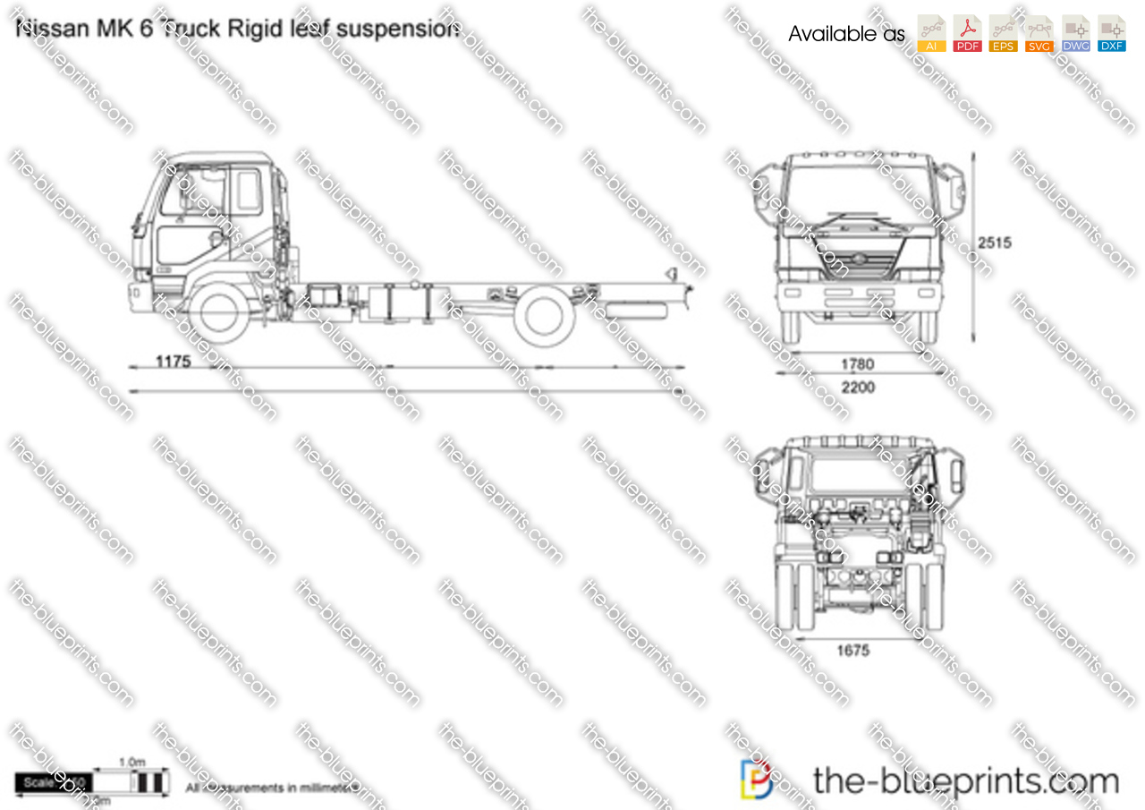 Nissan MK 6 Truck Rigid leaf suspension