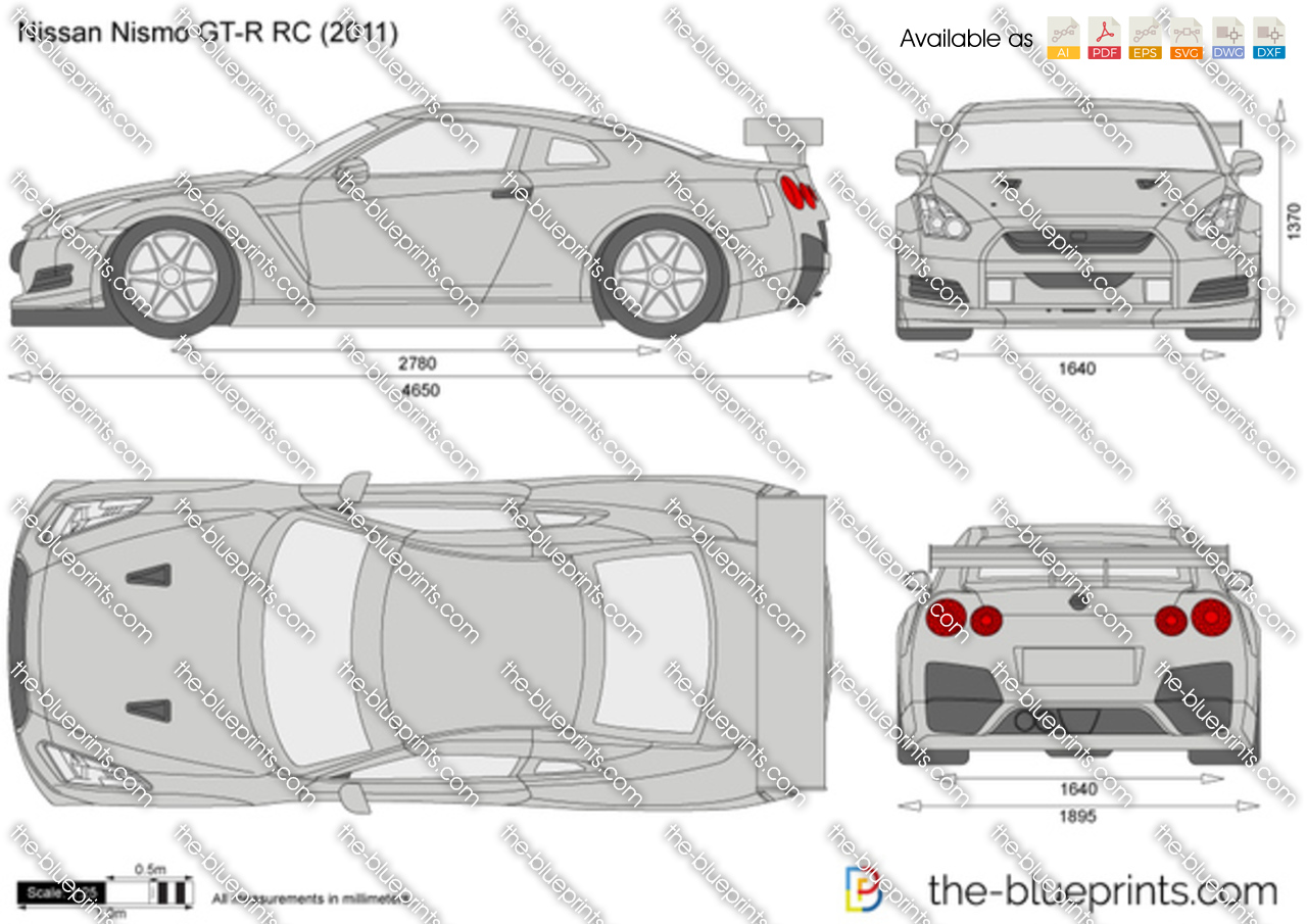 Nissan Nismo Gt R Rc Vector Drawing