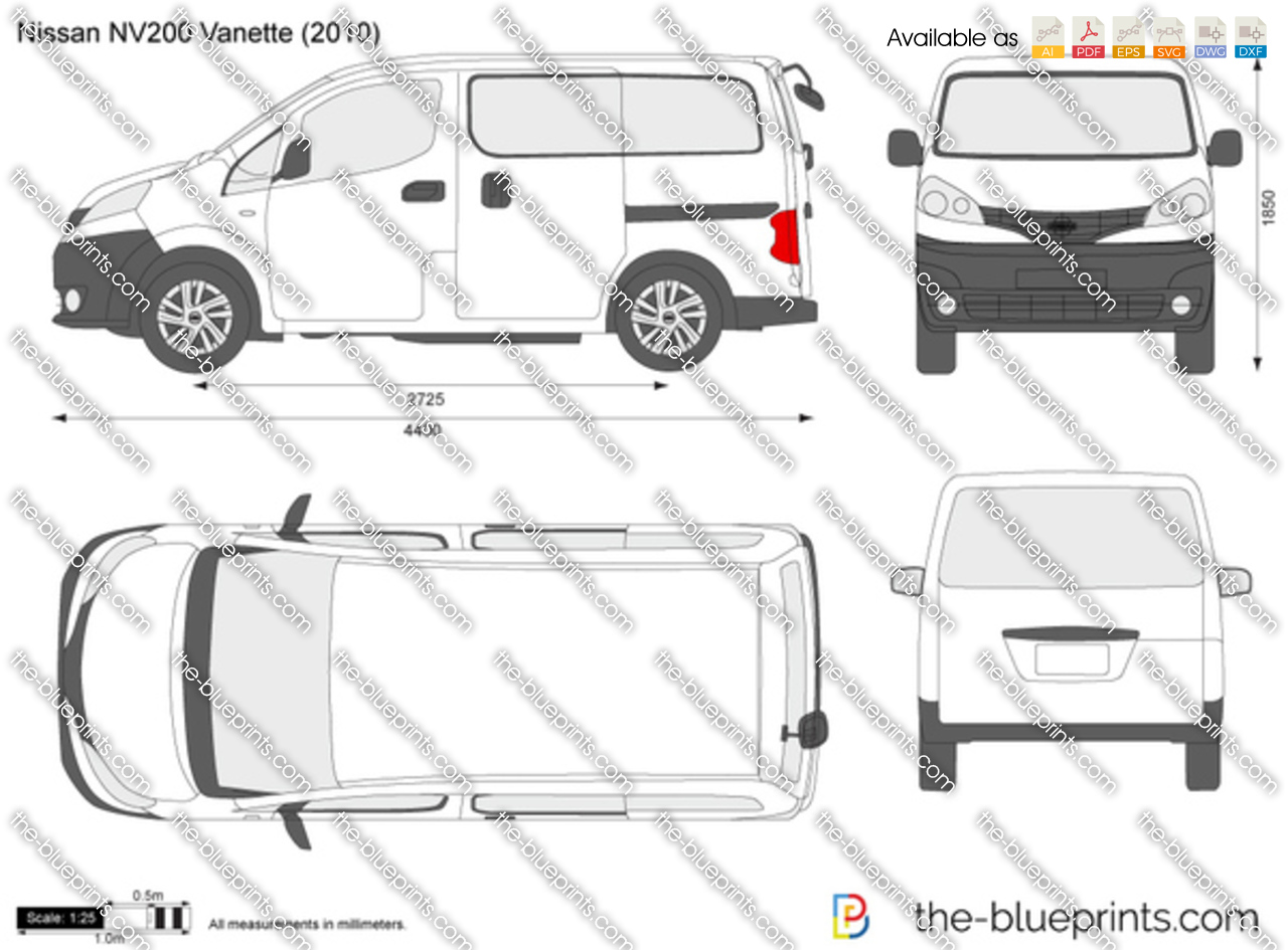 The Vector Drawing Nissan Nv200 Vanette
