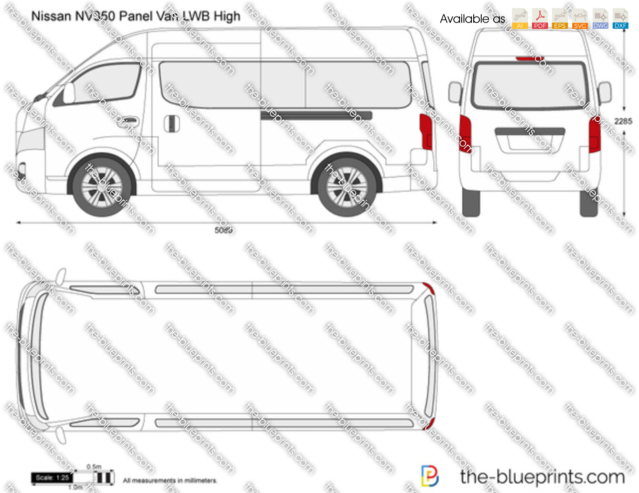 Nissan NV350 Panel Van LWB High