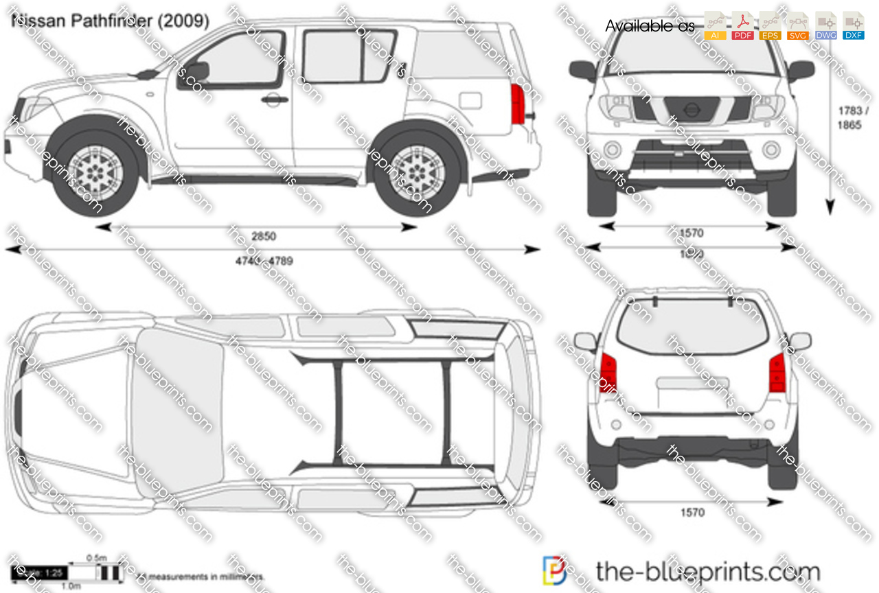 The Blueprints Com Vector Drawing Nissan Pathfinder