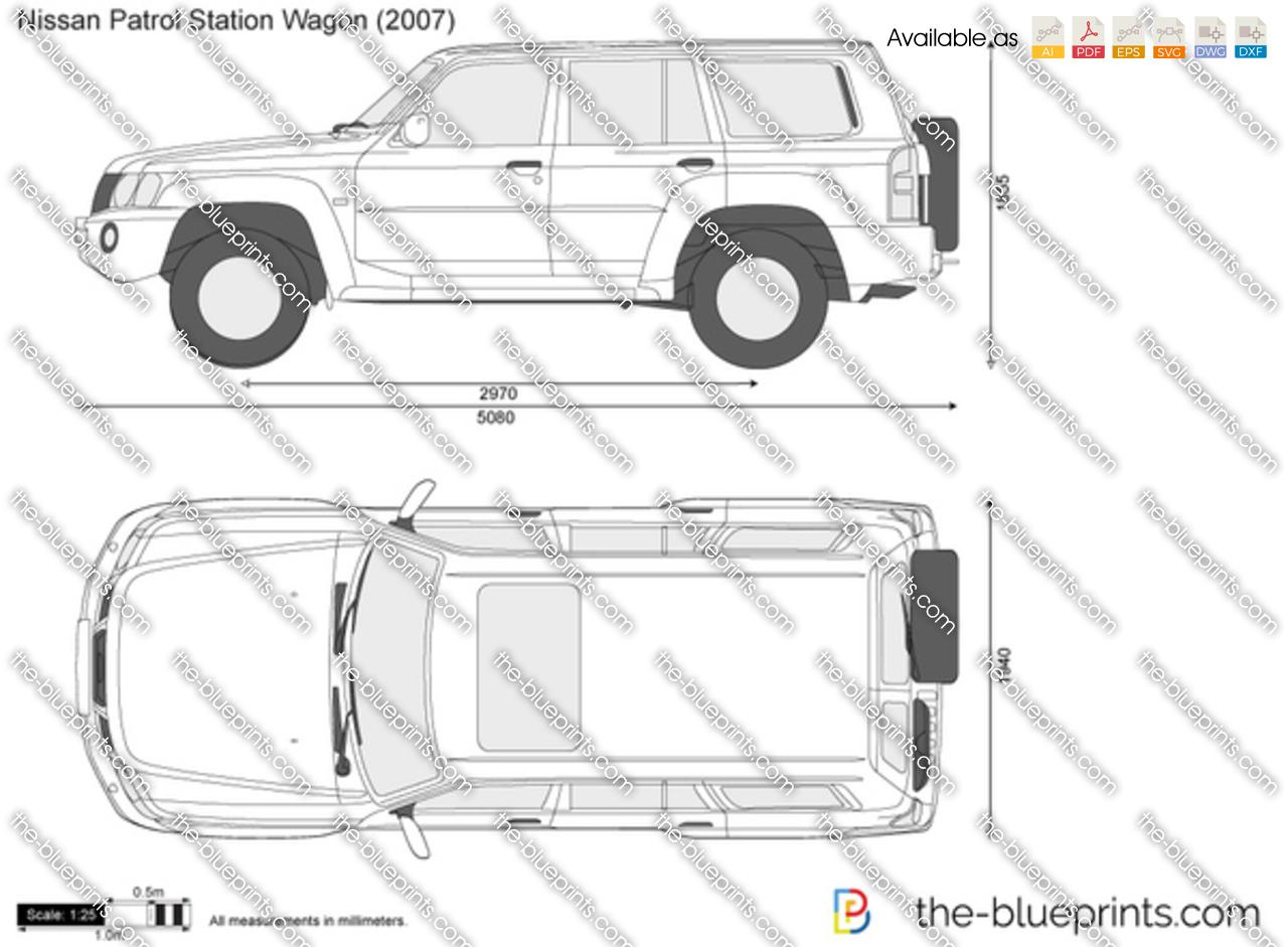 Nissan Patrol Station Wagon Vector Drawing