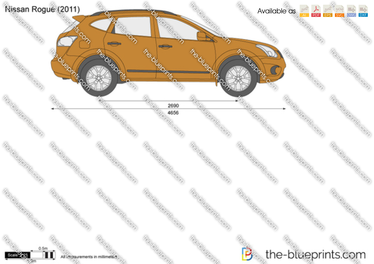 The Blueprints Com Vector Drawing Nissan Rogue