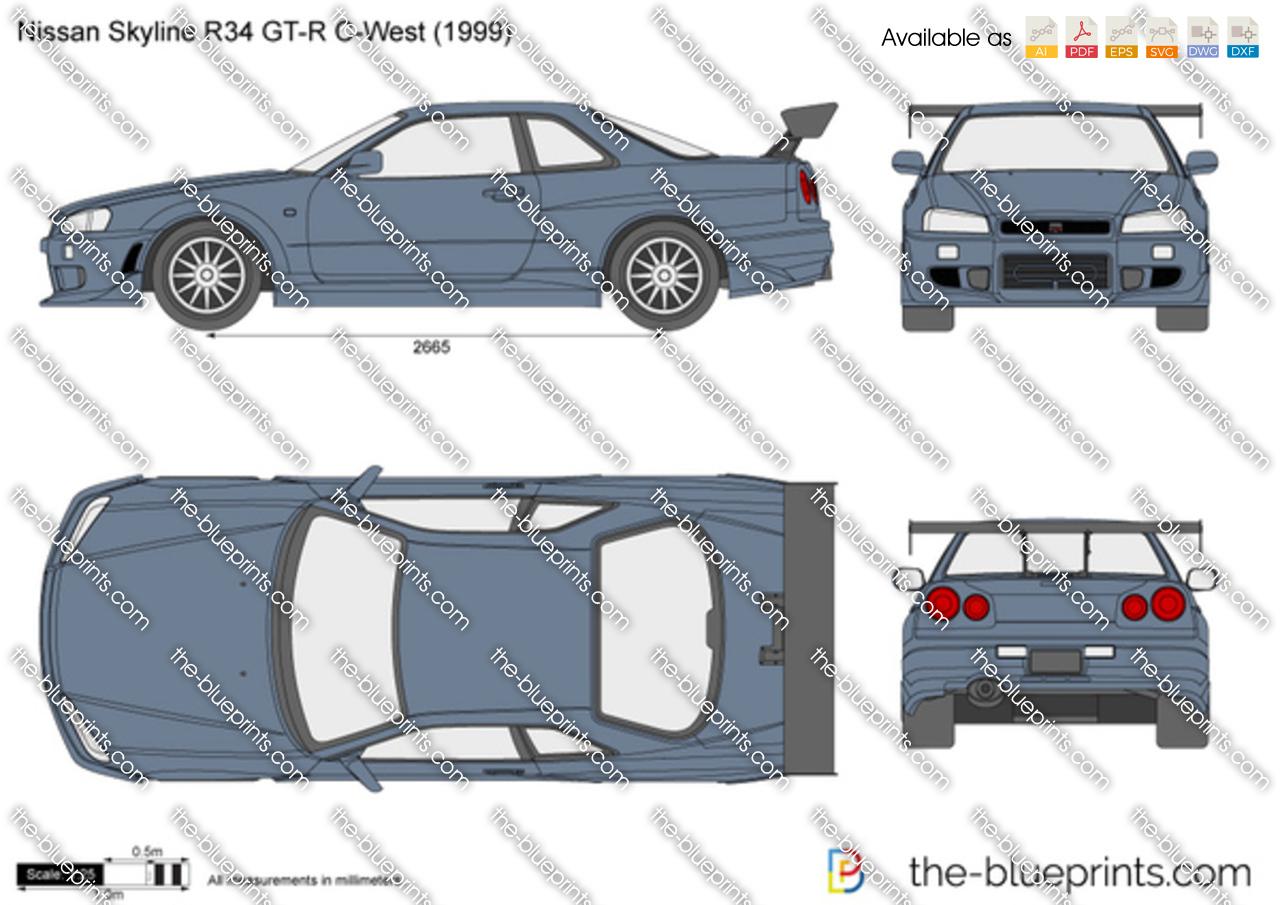 Nissan Skyline R34 GT-R C-West