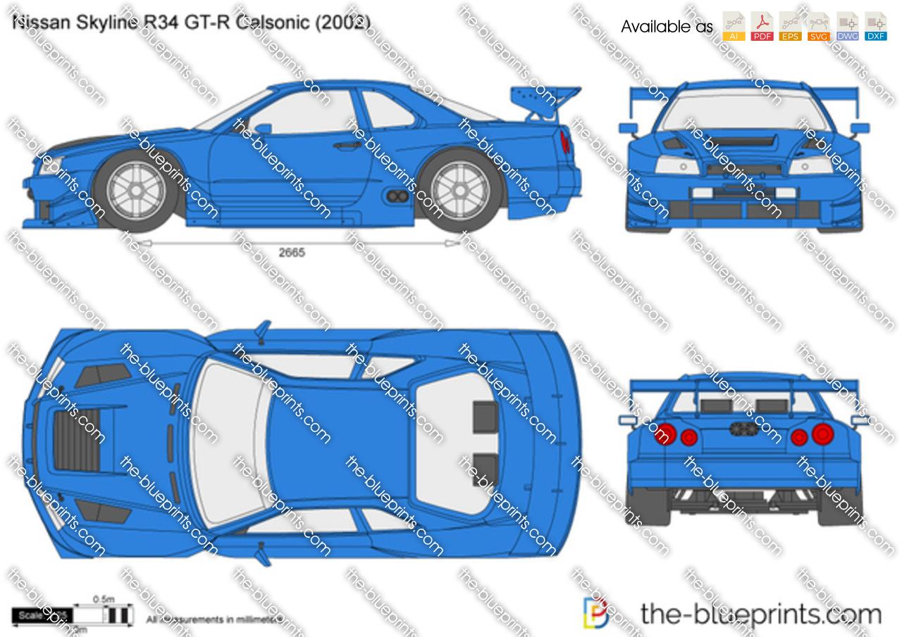 Nissan Skyline R34 GT-R Calsonic