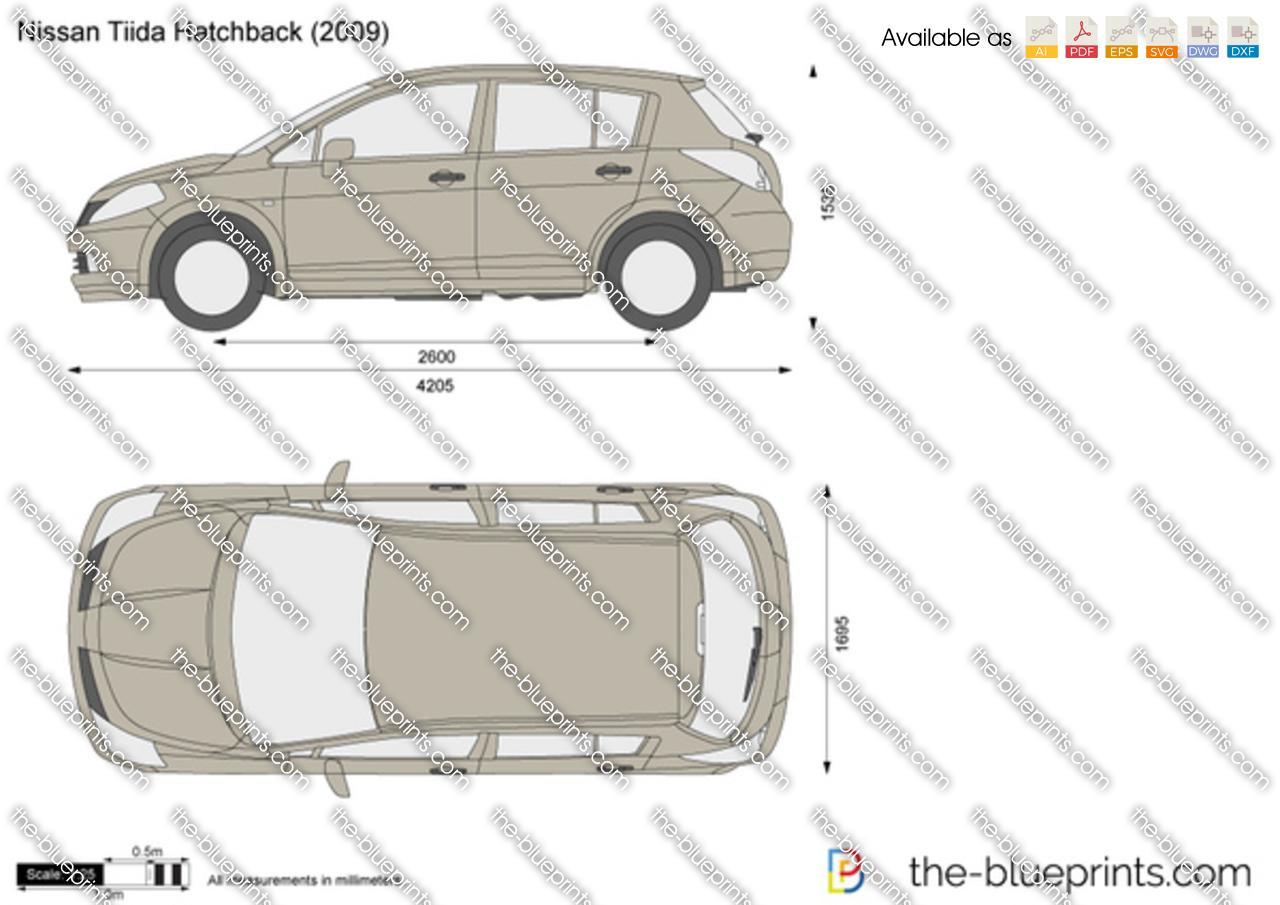 2012 Nissan Altima For Sale >> Nissan Tiida Hatchback vector drawing
