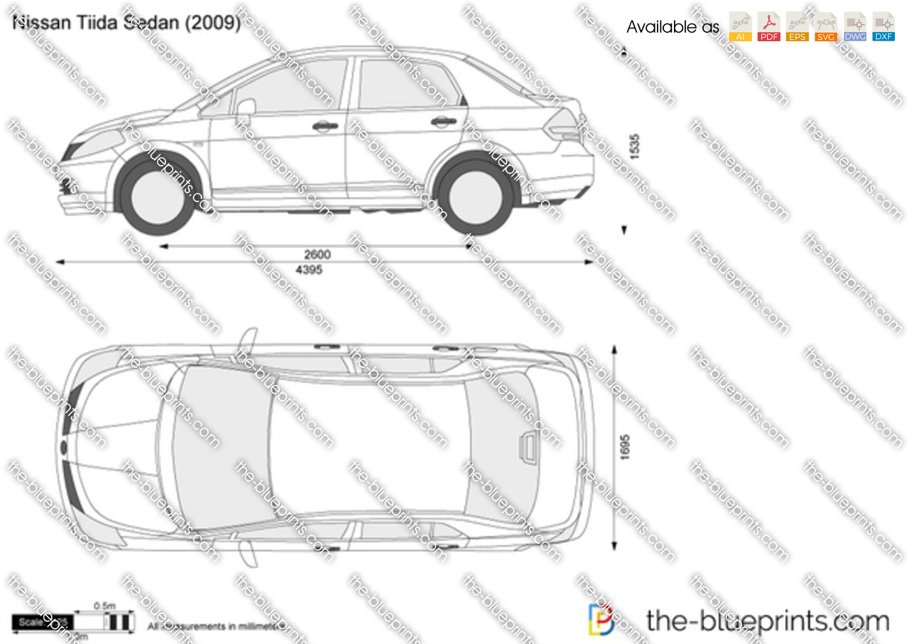 The Blueprints Com Vector Drawing Nissan Tiida Sedan