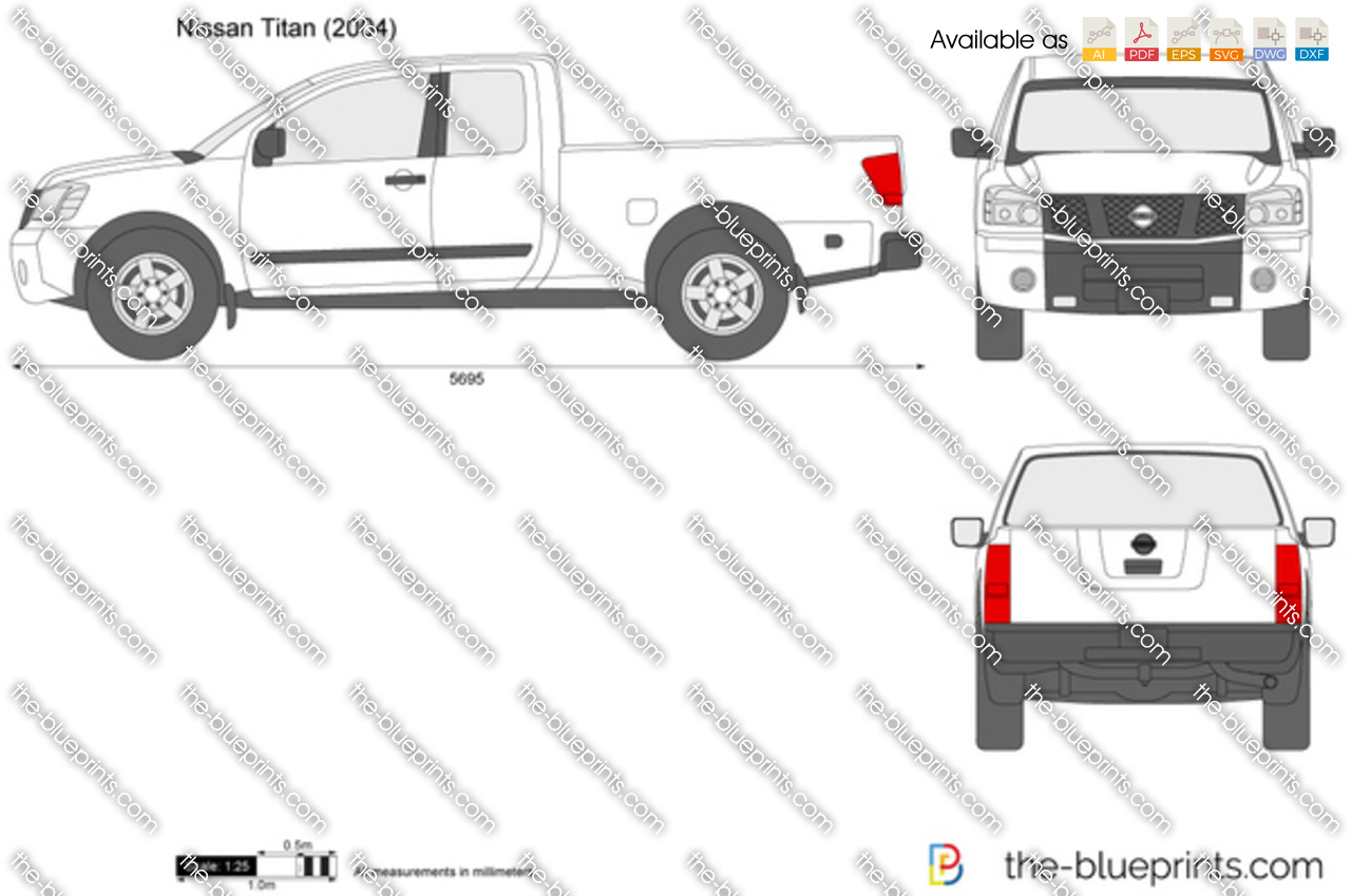 The Blueprints Com Vector Drawing Nissan Titan