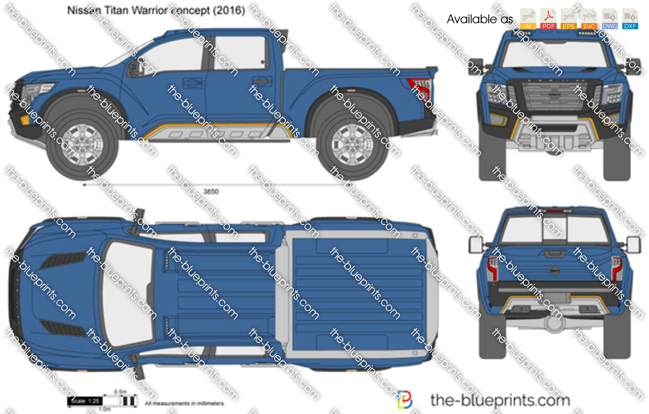 the vector drawing nissan titan warrior concept. Black Bedroom Furniture Sets. Home Design Ideas
