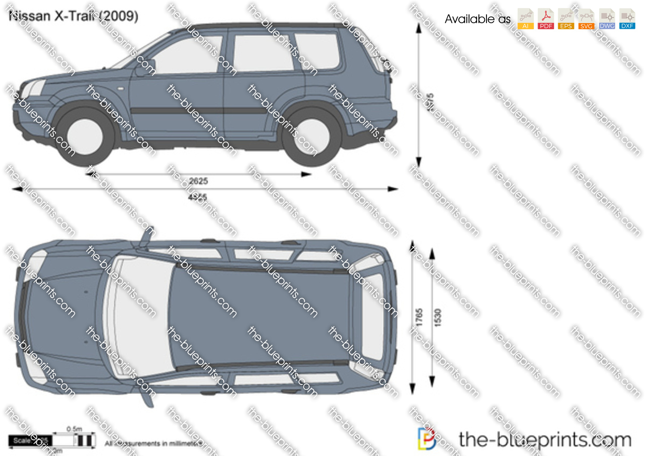 Nissan X Trail Vector Drawing