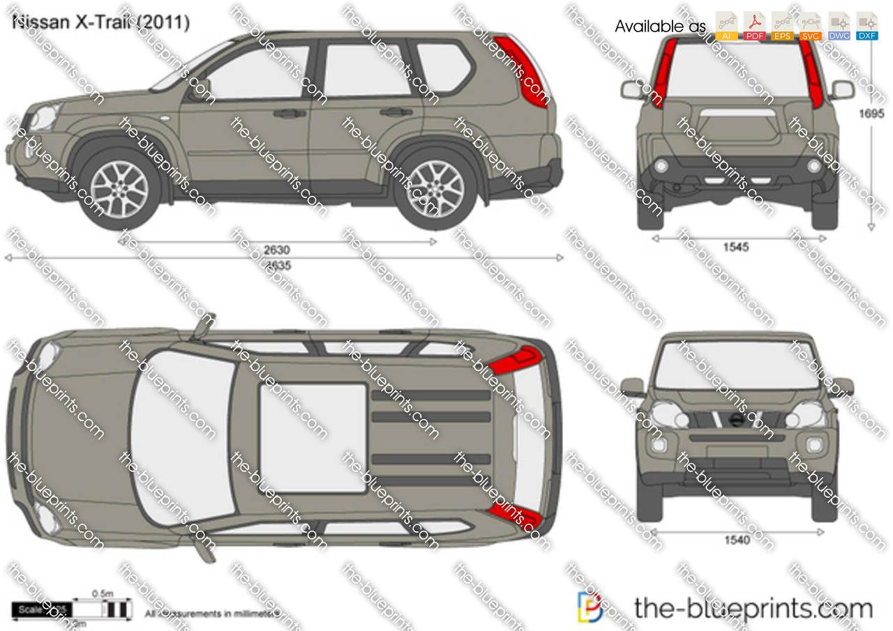 the vector drawing nissan x trail. Black Bedroom Furniture Sets. Home Design Ideas