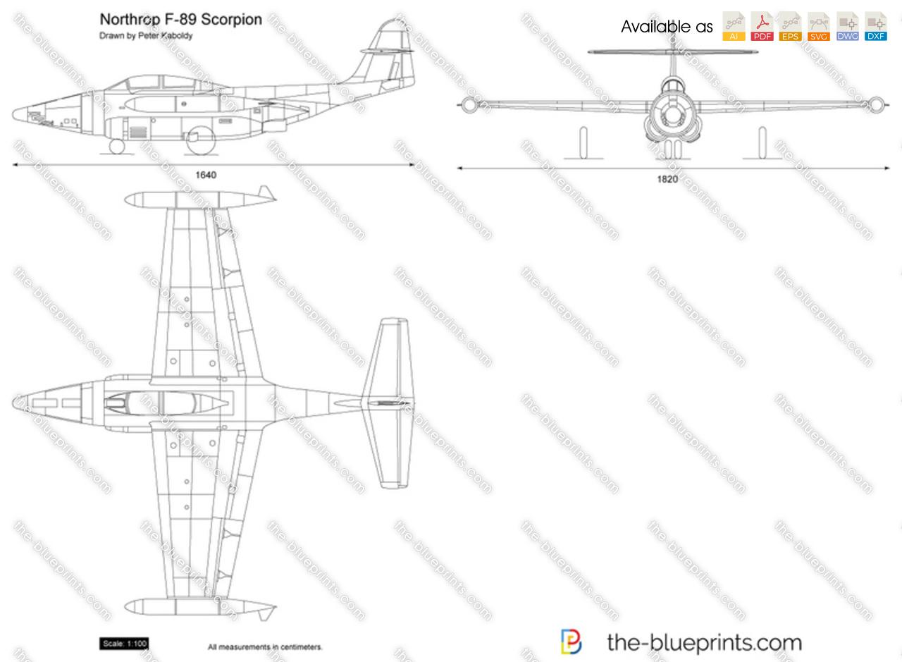 the blueprints com vector drawing northrop f 89 scorpion