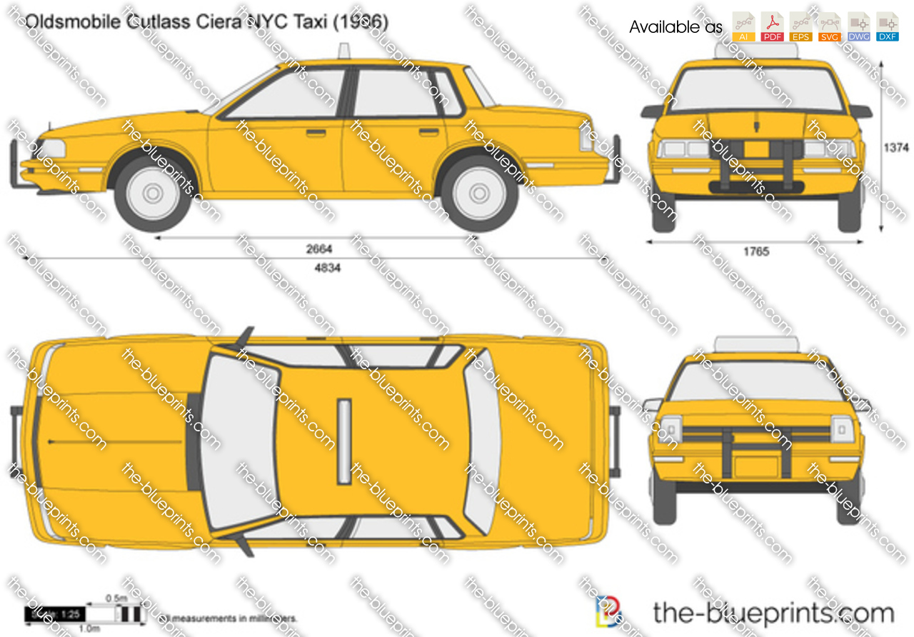 Oldsmobile Cutlass Ciera NYC Taxi