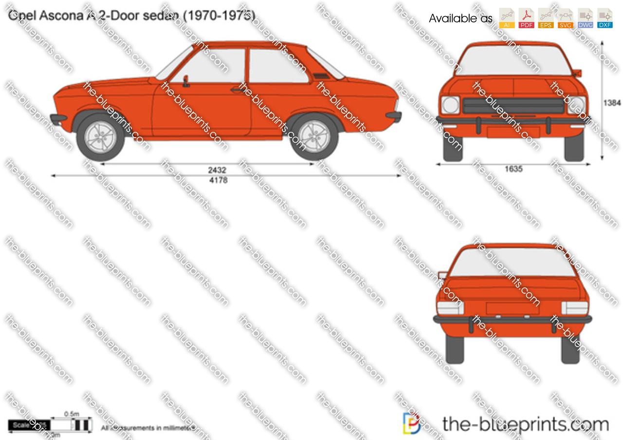 Opel Ascona A 2-Door sedan 1972
