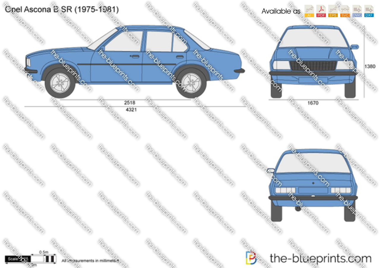 the vector drawing opel ascona b sr. Black Bedroom Furniture Sets. Home Design Ideas
