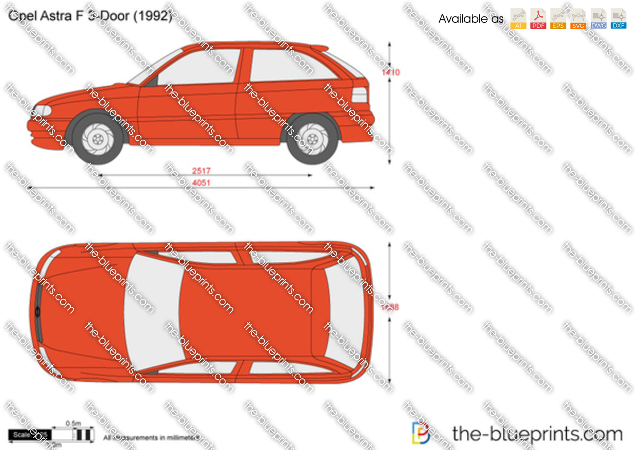 opel astra f 3 door vector drawing. Black Bedroom Furniture Sets. Home Design Ideas