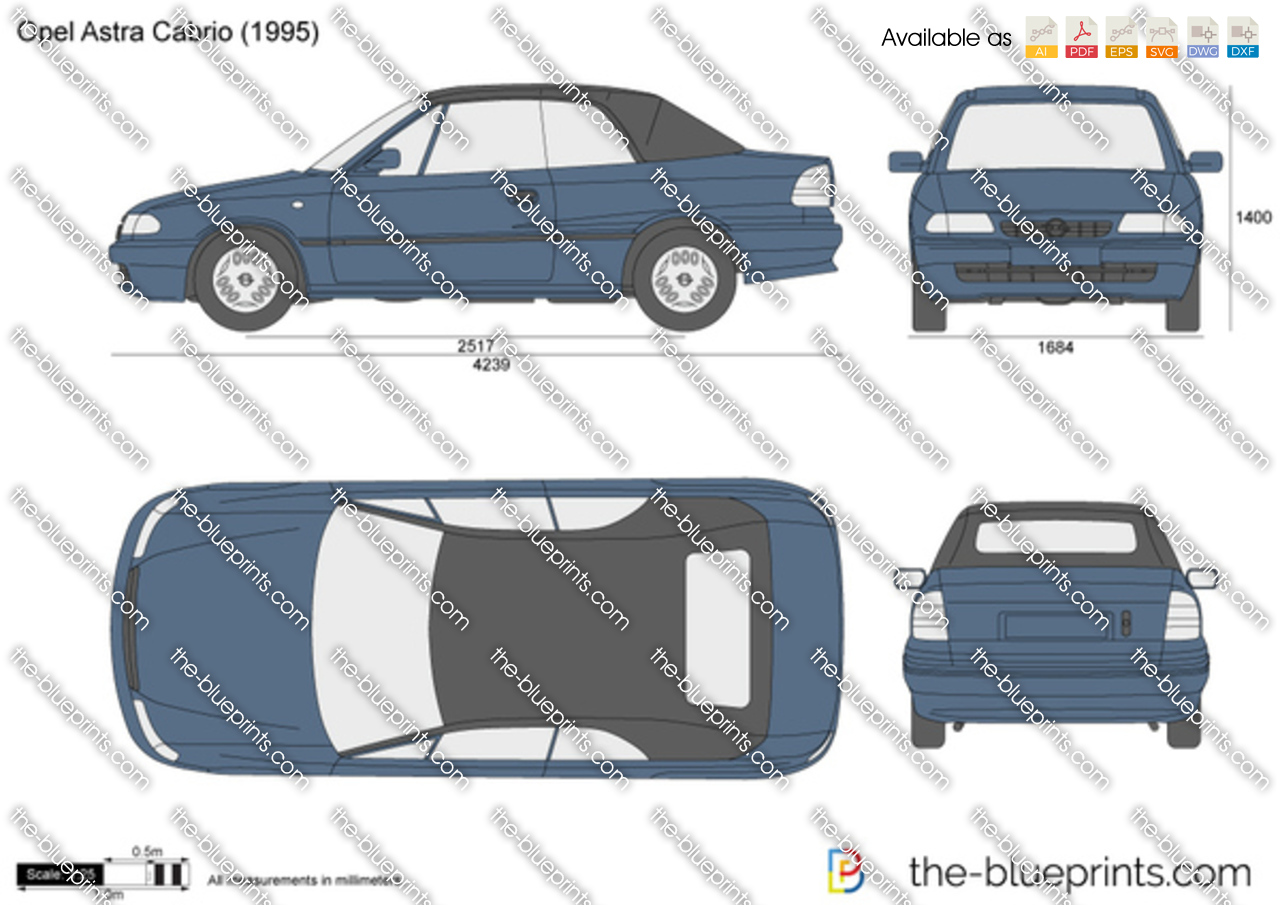 the vector drawing opel astra f cabrio. Black Bedroom Furniture Sets. Home Design Ideas