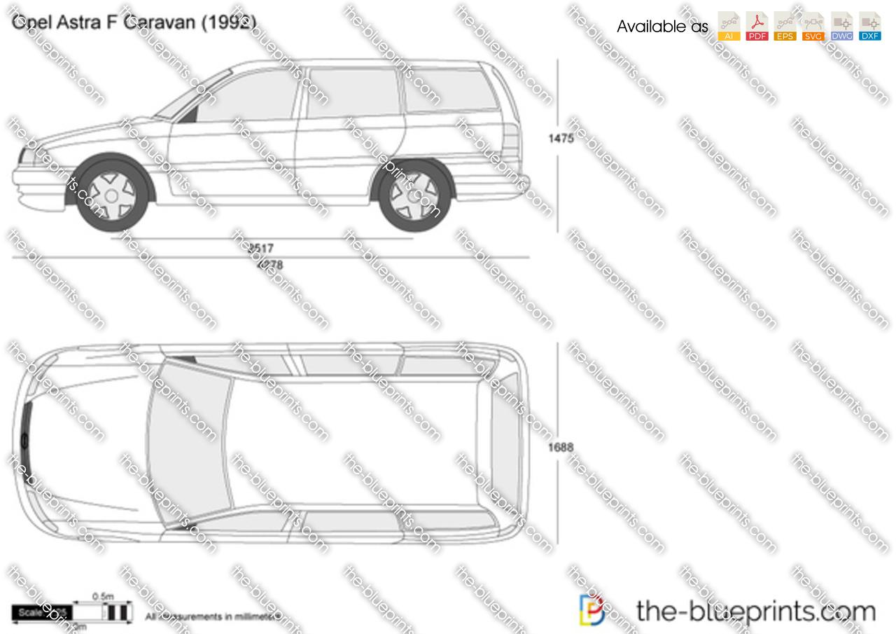 the vector drawing opel astra f caravan. Black Bedroom Furniture Sets. Home Design Ideas