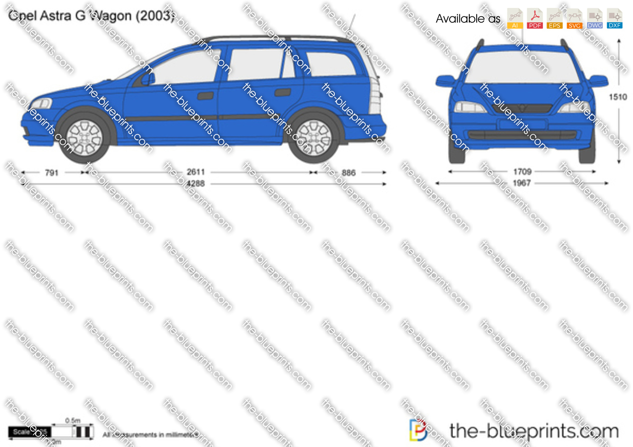 The Blueprints Com Vector Drawing Opel Astra G Wagon