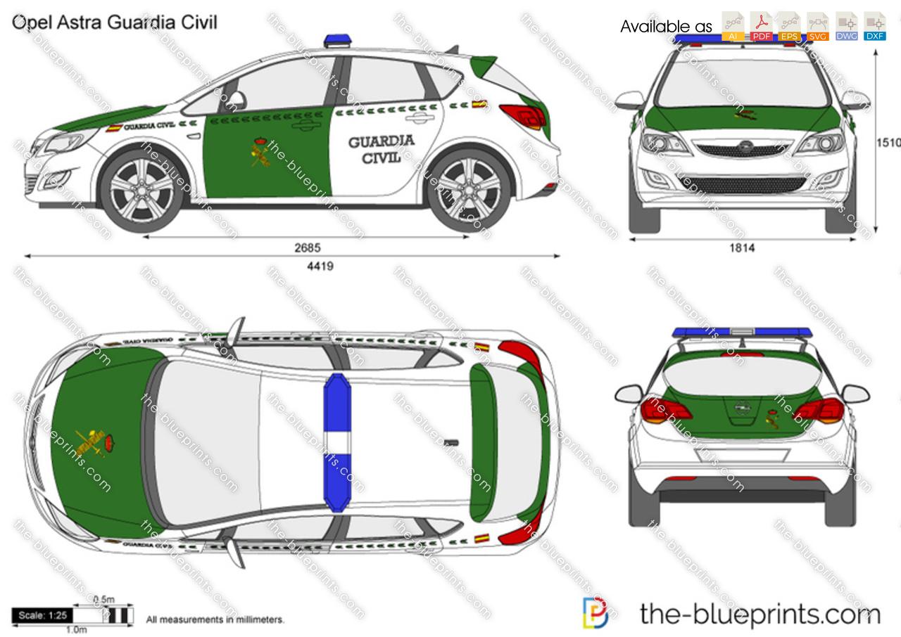 Opel Astra Guardia Civil