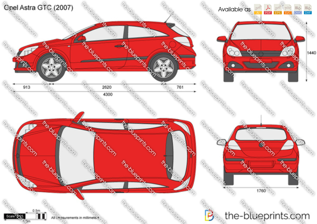 opel astra h gtc vector drawing. Black Bedroom Furniture Sets. Home Design Ideas