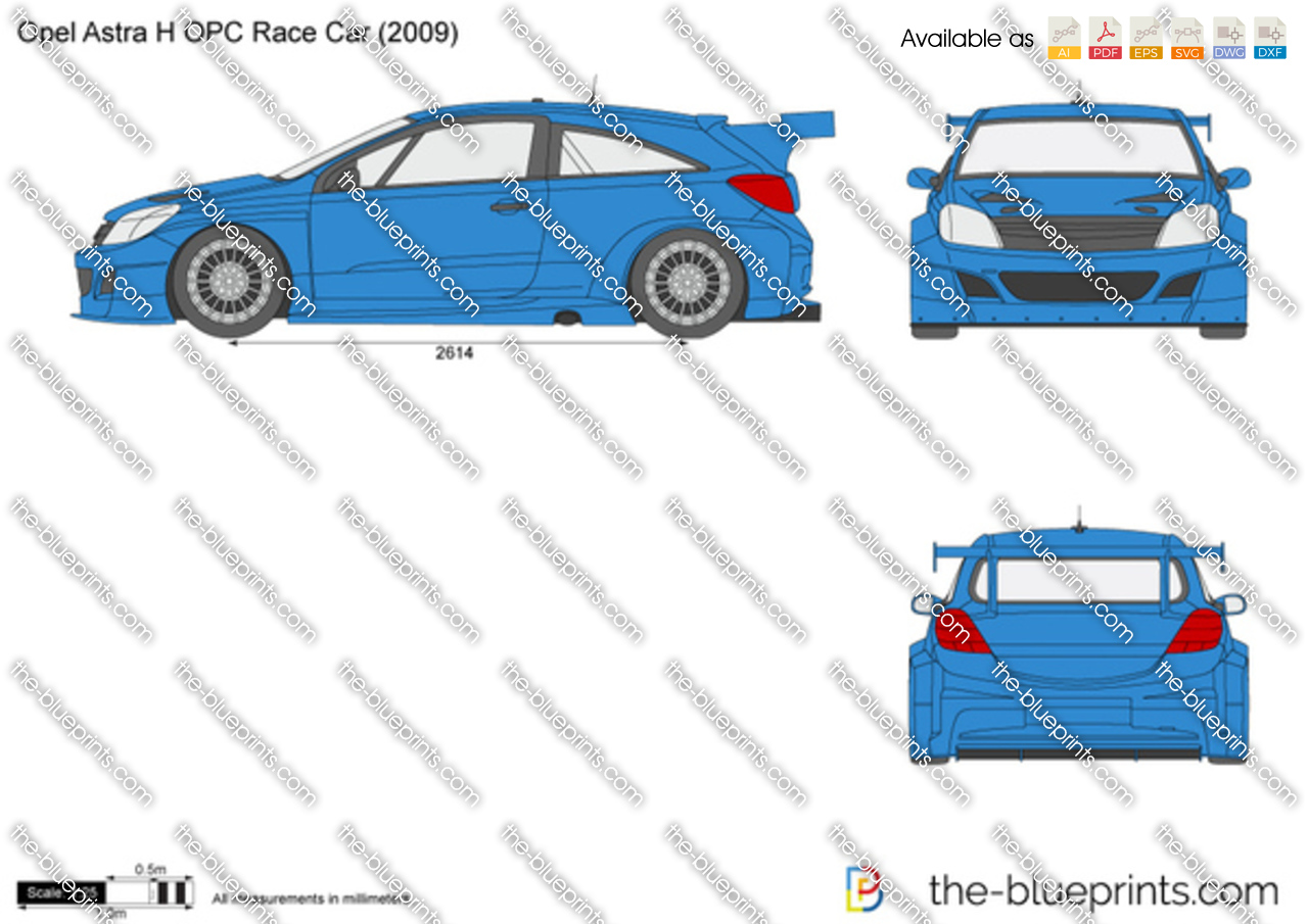 Opel astra h opc race car vector drawing opel astra h opc race car malvernweather Image collections