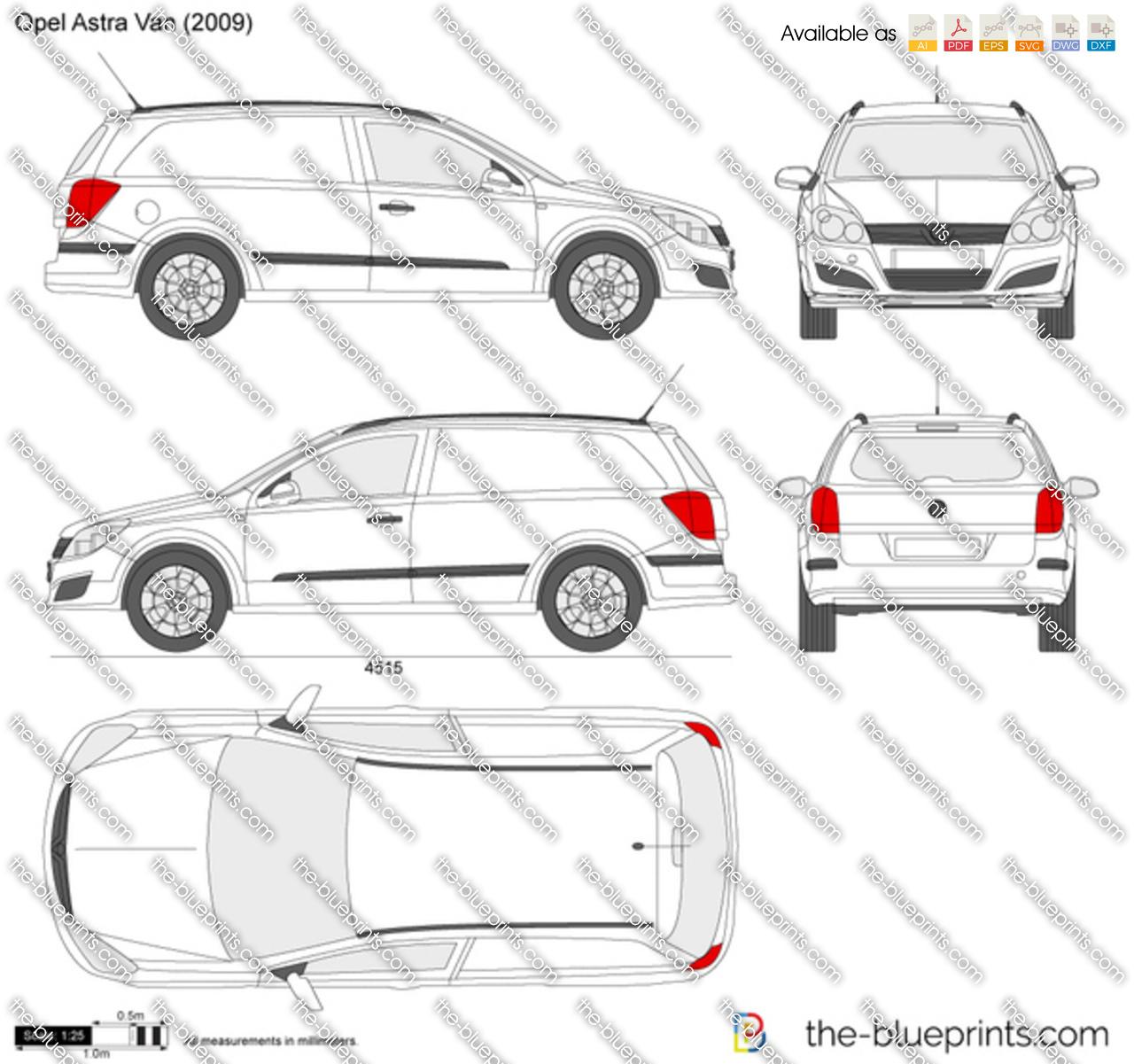 Opel Astra H Van 2005