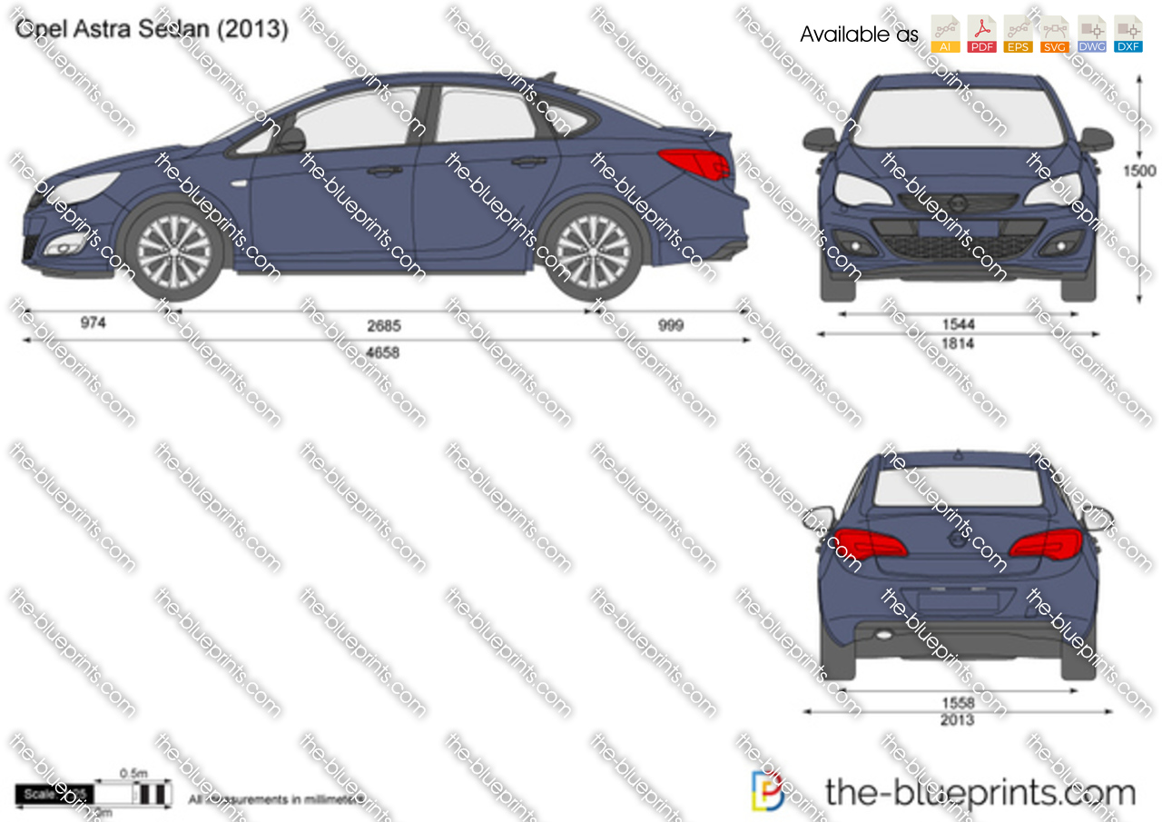 the vector drawing opel astra j sedan. Black Bedroom Furniture Sets. Home Design Ideas