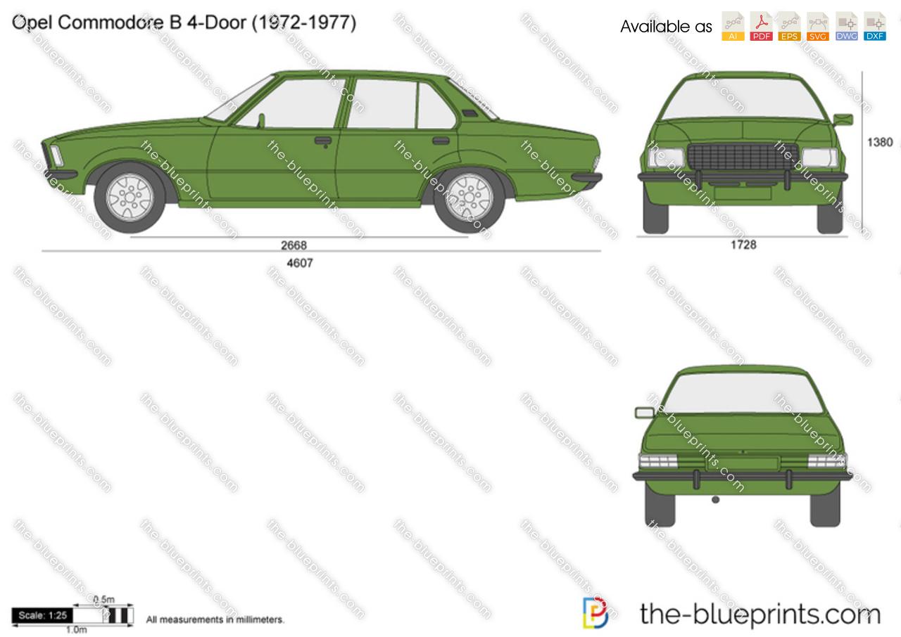 Opel Commodore B 4-Door