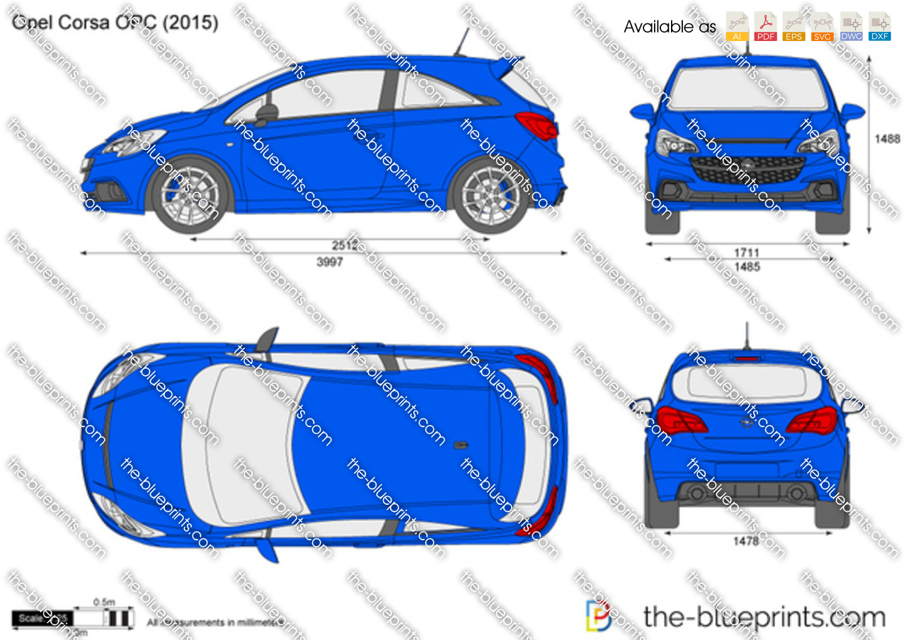 opel corsa opc vector drawing. Black Bedroom Furniture Sets. Home Design Ideas