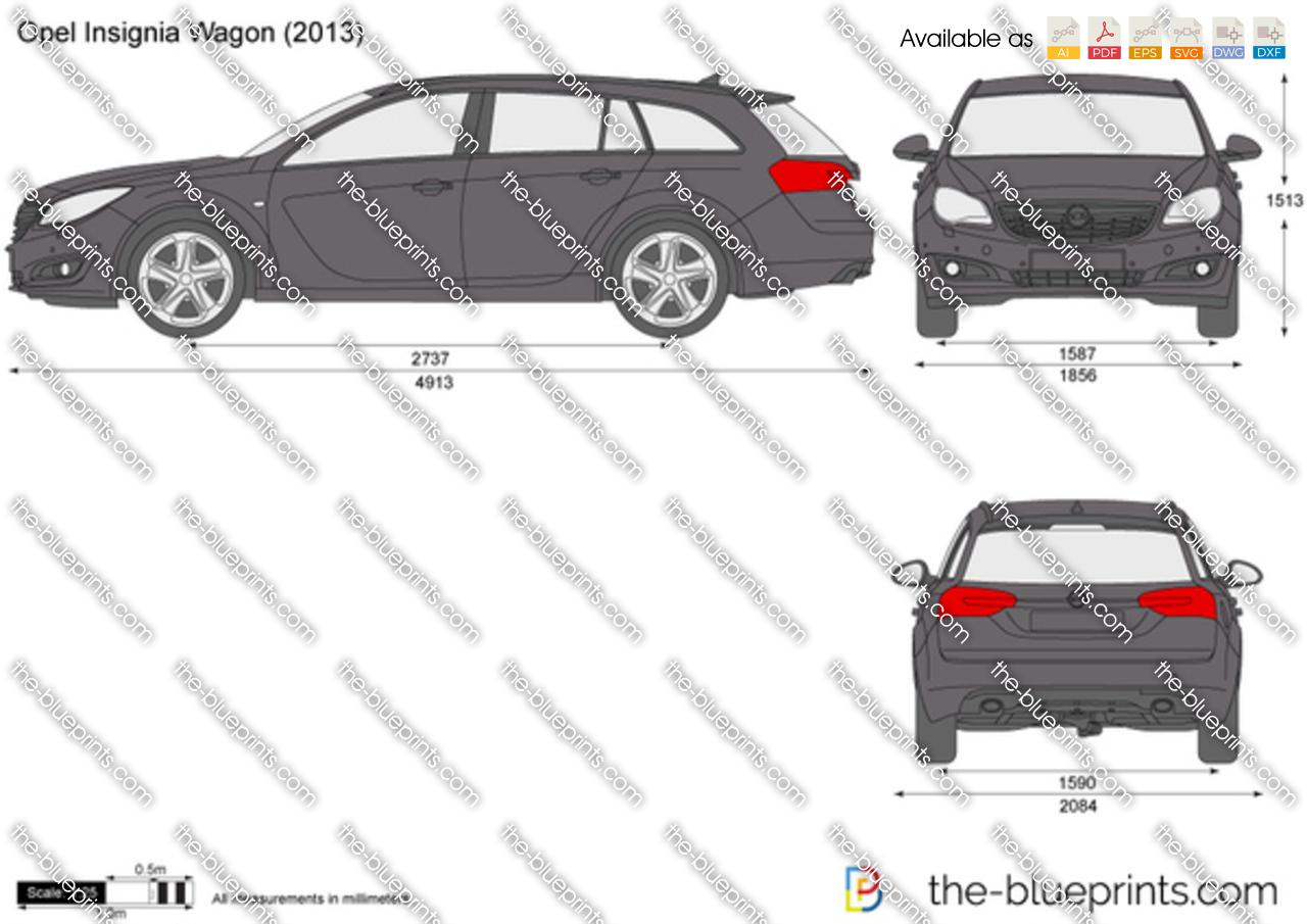 opel insignia wagon vector drawing. Black Bedroom Furniture Sets. Home Design Ideas