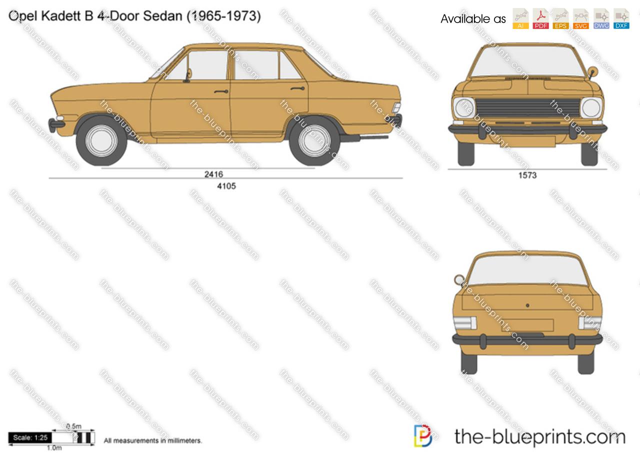Opel Kadett B 4-Door Sedan