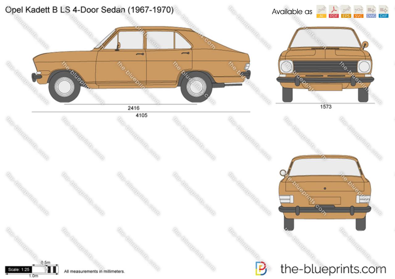 Opel Kadett B LS 4-Door Sedan
