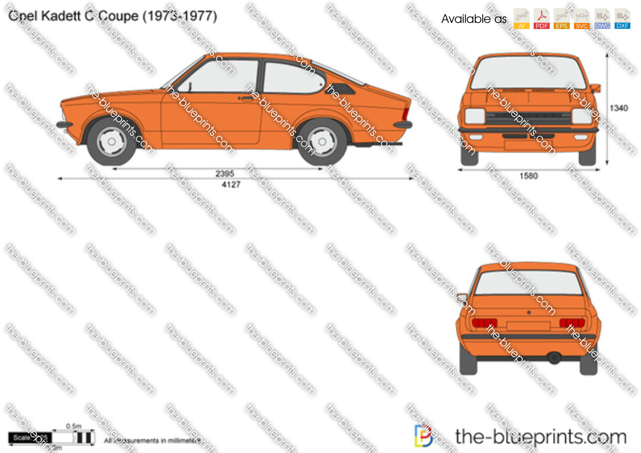 The-Blueprints.com - Vector Drawing - Opel Kadett C Coupe