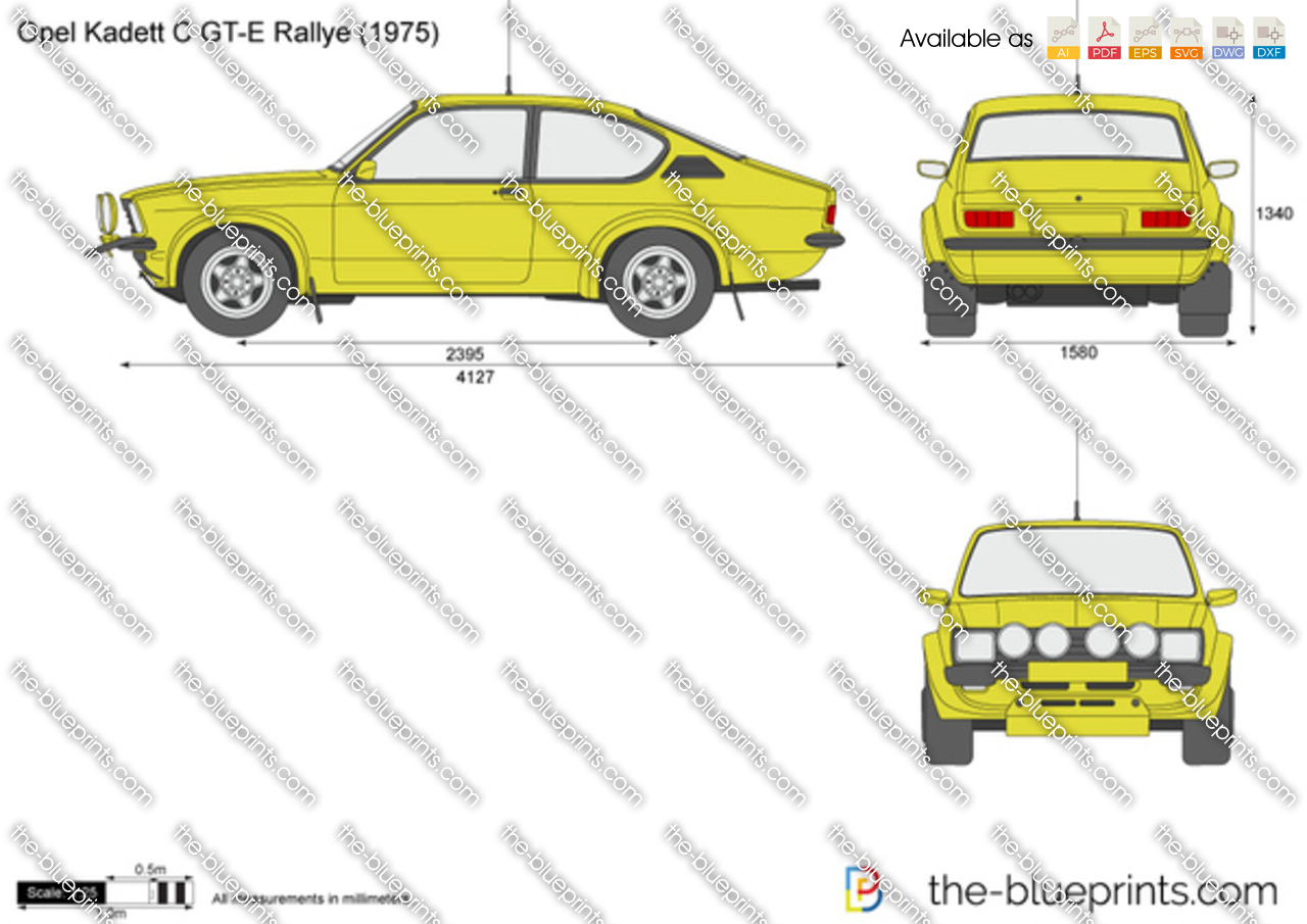 the vector drawing opel kadett c gt e. Black Bedroom Furniture Sets. Home Design Ideas