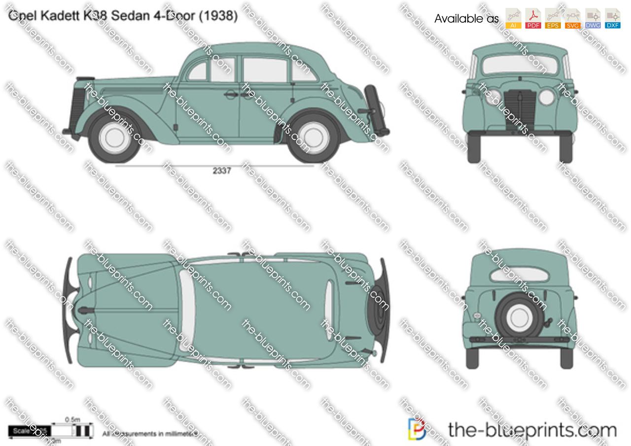 Opel Kadett K38 Sedan 4-Door